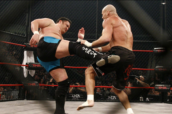 Kurt Angle Samoa Joe Lockdown 2008