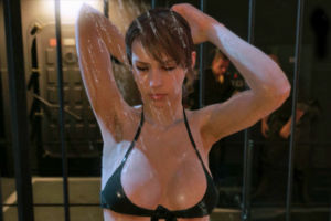 Metal Gear Solid Quiet shower