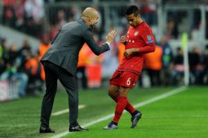 Pep Guardiola Thiago Alcantara Bayern Munich