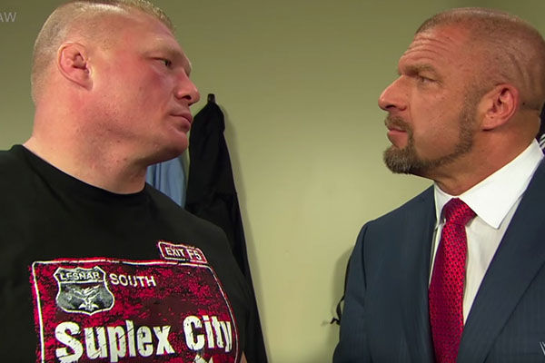 Triple H Brock Lesnar Raw