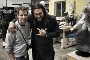 Zack Snyder Jason Momoa Justice League: Part One behind the scenes Twitter