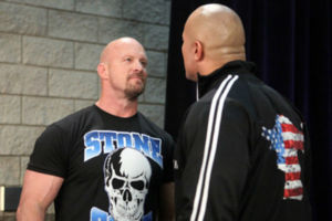 Steve Austin The Rock WrestleMania 27