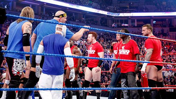Resultado de imagem para Team Smackdown vs. Team Raw - Bragging Rights 2010
