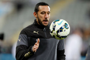 Newcastle United's Jonas Gutierrez warm up before the Barclays Premier League match at St James' Park, Newcastle. PRESS ASSOCIATION Photo. Picture date: Wednesday March 4, 2015. See PA story SOCCER Newcastle. Photo credit should read: Richard Sell