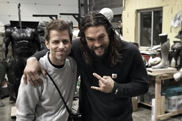 Zack Snyder Jason Momoa Justice League