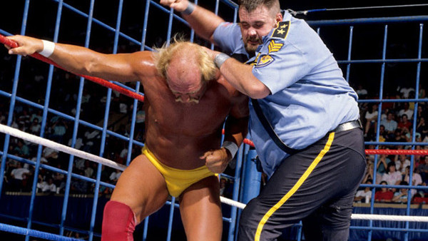 Big Boss Man Hulk Hogan Cage Match