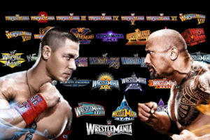 wrestlemania rock cena