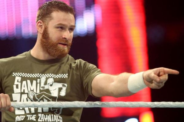 Sami Zayn post-WrestleMania Raw