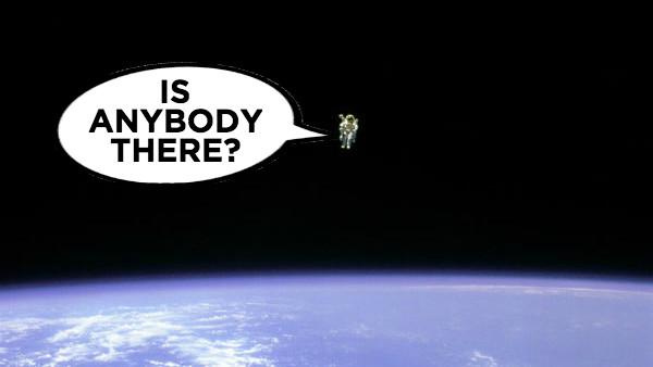 Astronaut alone fermi space