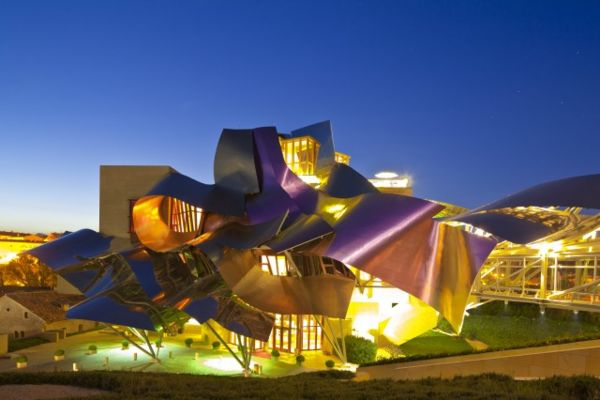 Spain, Spanish Basque Country, Alava Province, Rioja Alavesa, Elciego, Hotel Marques de Riscal designed by architect Frank Owen Gehry open in 2006