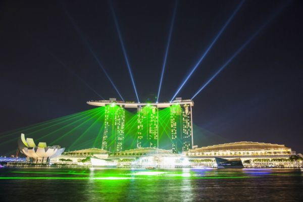 Laser show,Art Science Museum,Marina Bay Sands,Marina Bay,Singapore