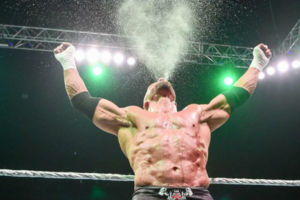 triple h spitting water