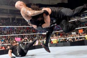 AJ Styles Roman Reigns Luke Gallows
