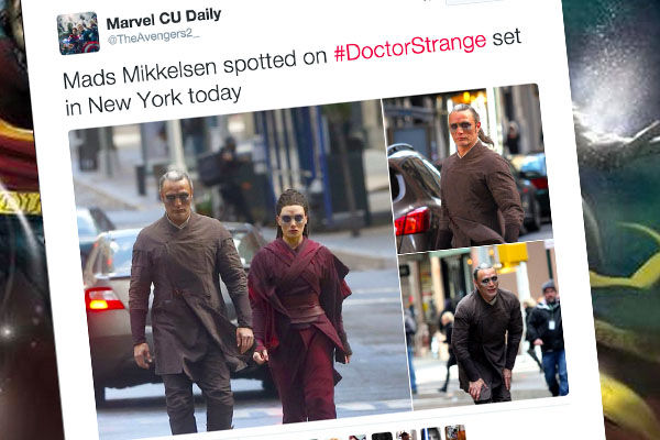 Mads Mikkelsen on Doctor Strange set, but which villain is he playing?