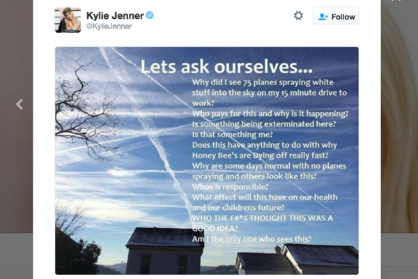 Kylie Jenner Chemtrails