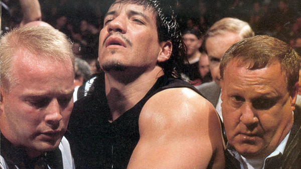 Eddie Guerrero debut WWE match injury