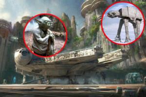 Star Wars Land Falcon Yoda At-At