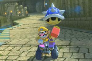 mario kart 8 blue shell