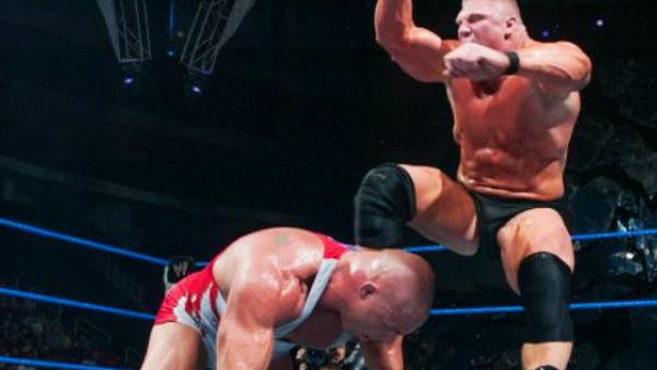 Brock Lesnar Kurt Angle Smackdown