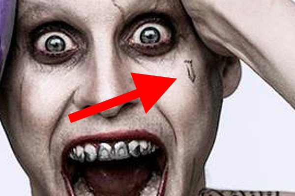 Suicide squad decoding all 16 of jared leto 39 s joker for Suicide squad face tattoo