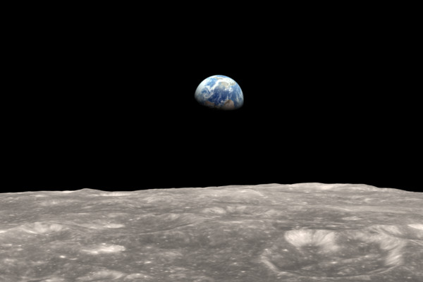 Moon And Earth earthrise