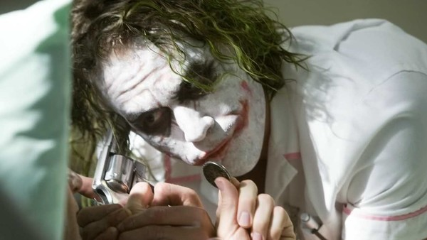 Heath Ledger Joker Nurse The Dark Knight