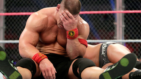 Image result for john cena attitude adjustment hell in a cell roof randy orton