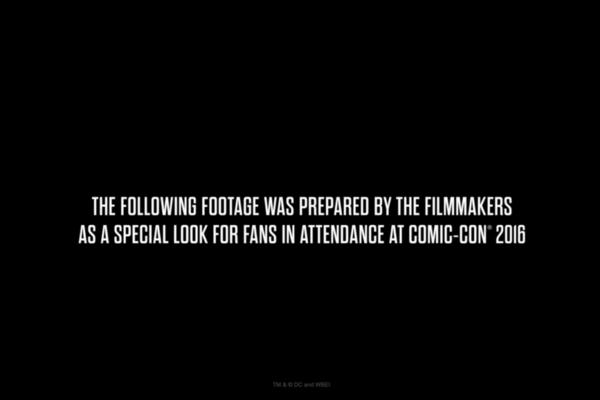 Justice League Comic Con Disclaimer