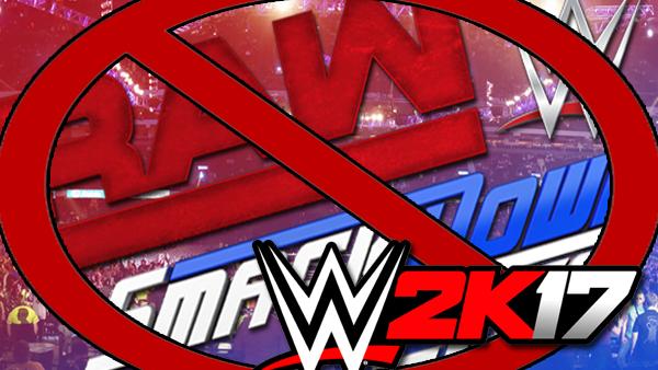 WWE 2k17 brand split