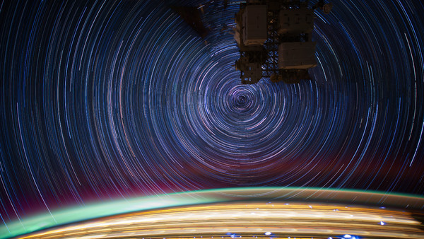 International Space Station Star Trails JSC2012E052684