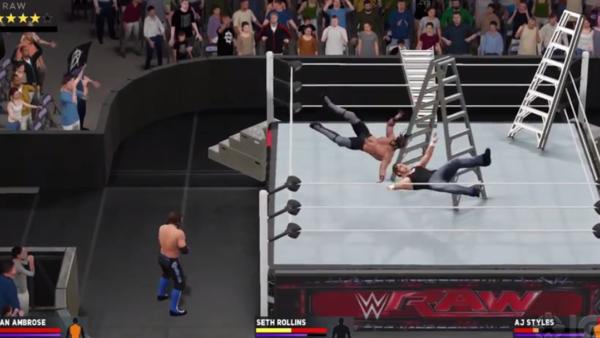 WWE 2K17 Ladder Aerial