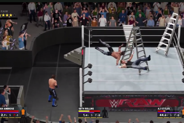 WWE 2K17 Ladder Aerial