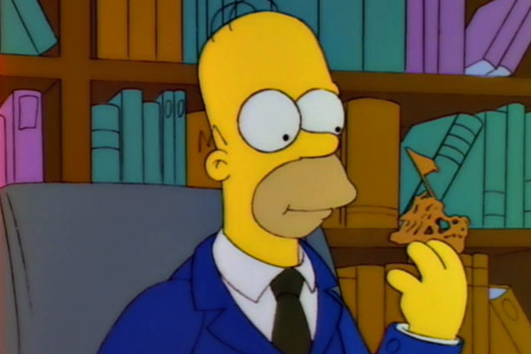 5. Homer Channels Johnny Carson When He Eats Some Prized Potato Chips (Selma€™s Choice)