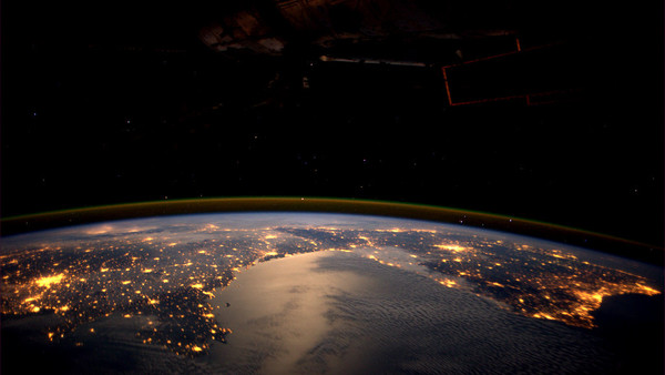 Portugal To Paris LIghts From Space