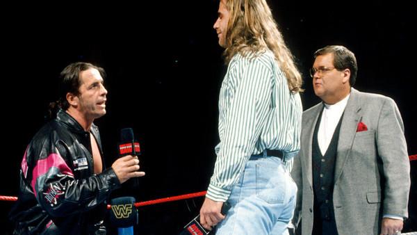 Shawn Michaels Bret Hart Jim Ross 1996 Raw