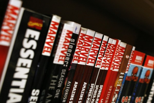 Marvel Graphic Novels On A Shelf