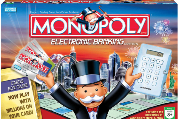 Monopoly electronic banking credit card