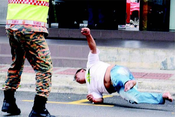 Nepali Man Falling