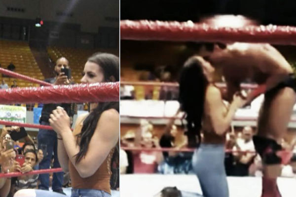 Paige engaged to Alberto Del Rio in shock non-WWE wrestling appearance