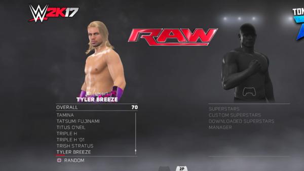 Tyler Breeze WWE 2K17