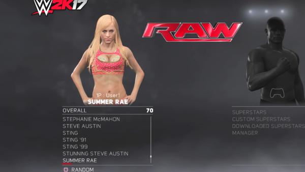 Summer Rae WWE 2k17
