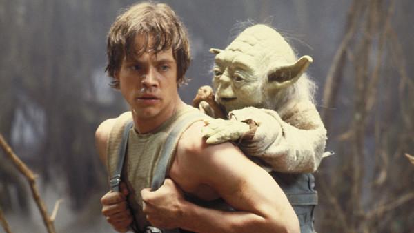 The Empire Strikes Back Luke Skywalker And Yoda