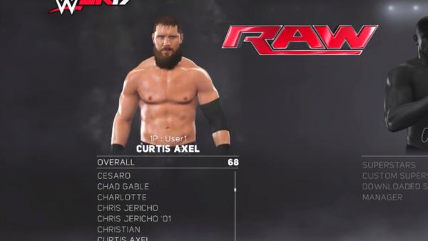 Curtis Axel WWE 2K17