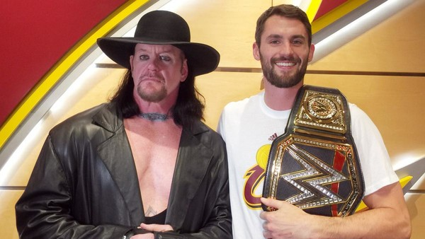 6e7714f78b4e The Undertaker Meets The Cleveland Cavaliers At Their NBA Season Opener