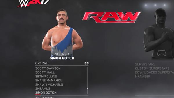 Simon Gotch WWE 2K17