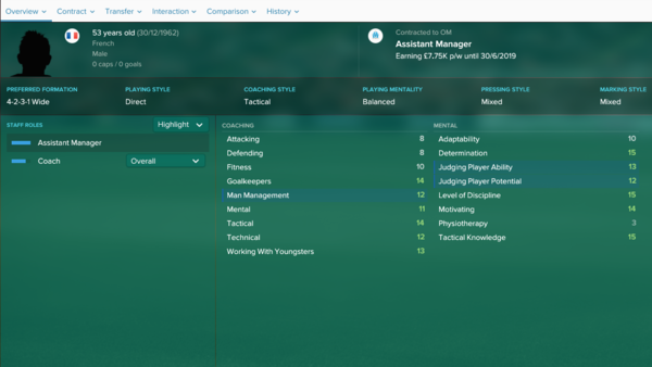 football manager 2019 best assistant manager