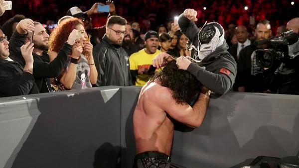 Masked Chris Jericho Seth Rollins