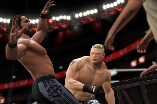 WWE 2K17 Brock Lesnar Seth Rollins