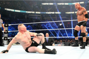 27 Goldberg Brock Lesnar Survivor Series