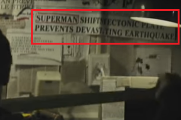 Batman v Superman Easter Egg Newspaper